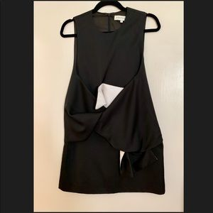 KEEPSAKE the label black & white tie Dress small